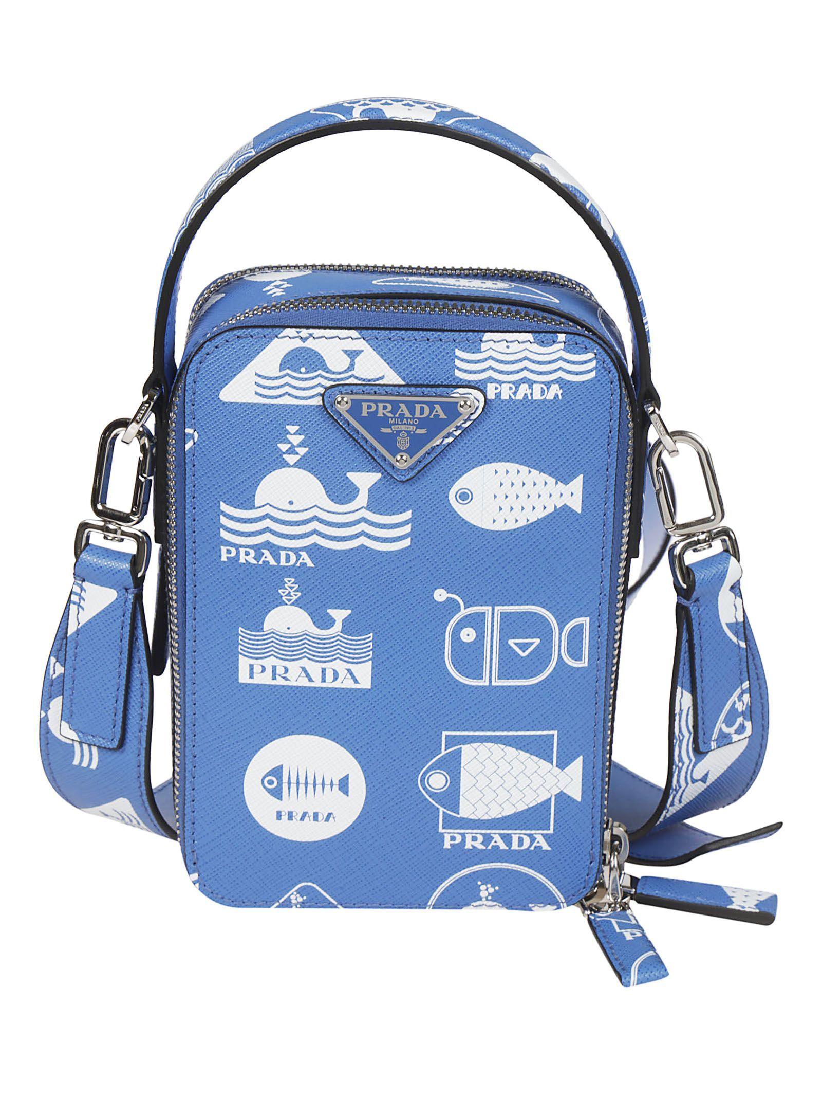c85c237402ea PRADA PRINTED BOXY SHOULDER BAG.  prada  bags  shoulder bags