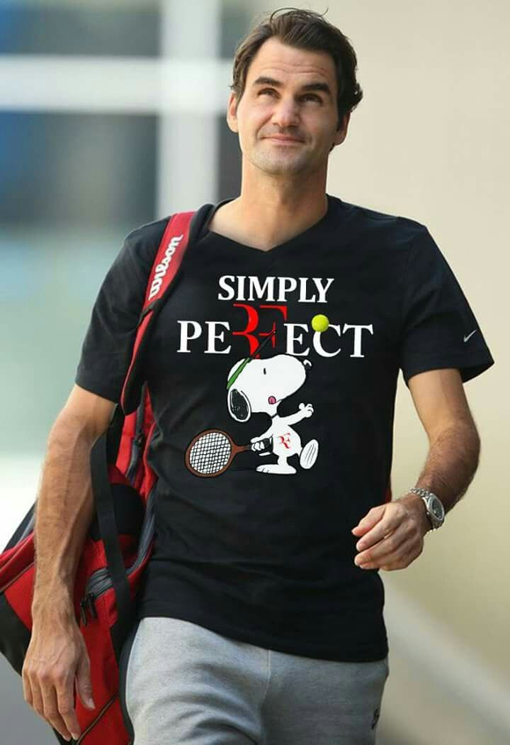 Simply Perfect - Snoopy Roger Federer - T-shirts | TeeHerivar