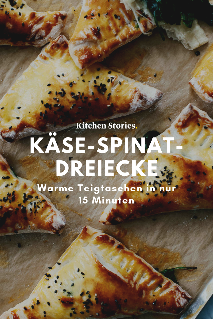 Käse-Spinat-Dreiecke | Rezept mit Video | Kitchen Stories