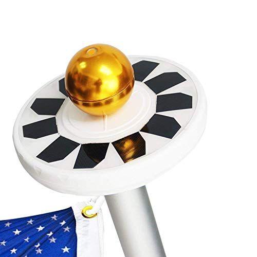 Cheap AVOMAR Solar Flag Pole Lights 30 LED Weatherproof