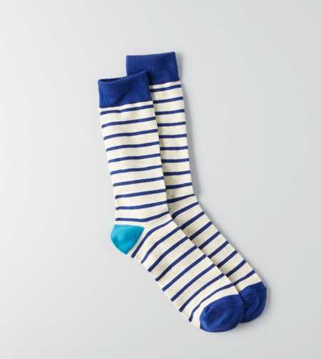 Men S Socks American Eagle Outfitters Blue Stripes Crew Socks Mens Outfitters