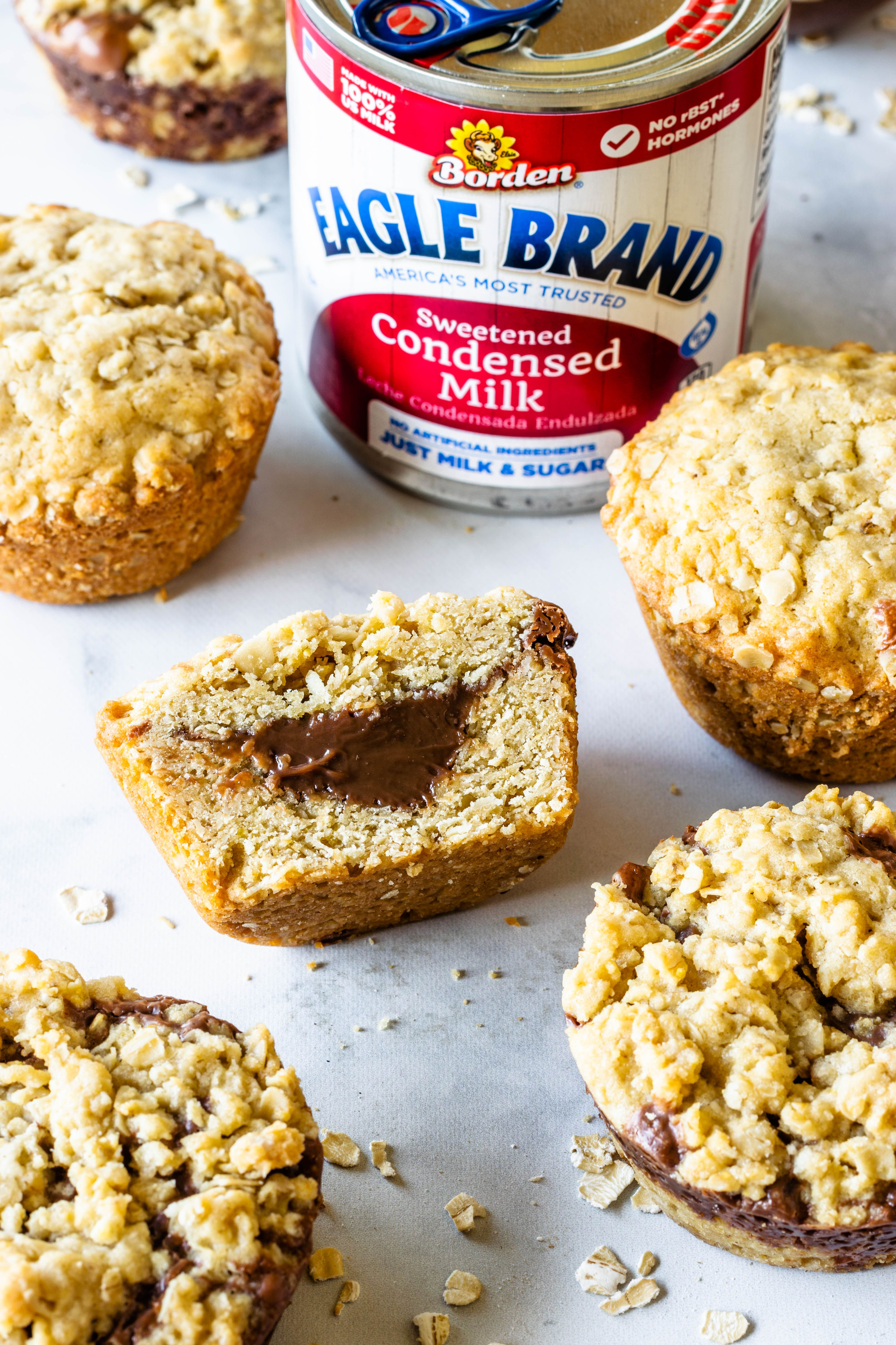 Baked Oatmeal Cups With Chocolate Filling Recipe In 2020 Condensed Milk Recipes Desserts Condensed Milk Recipes Milk Recipes Dessert