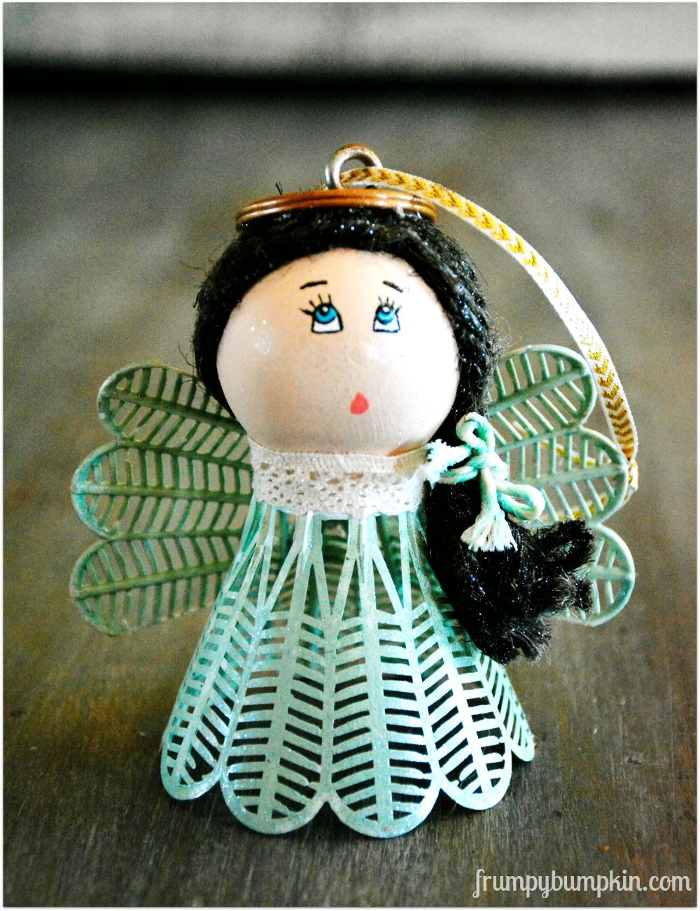 Make an angel ornament from a badminton birdie and a ping for Craft angels to make