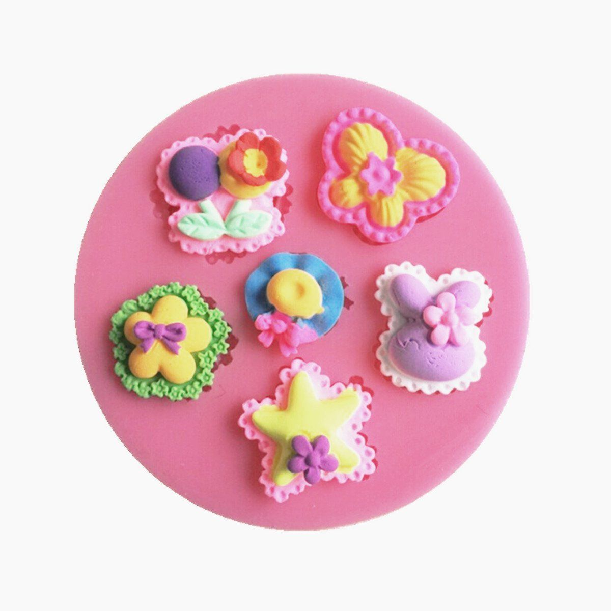 9261a50d34 KookieMonsta Baby Girl Silicone Mould Small Pastry Mold for Cupcake  Decoration -- To view further