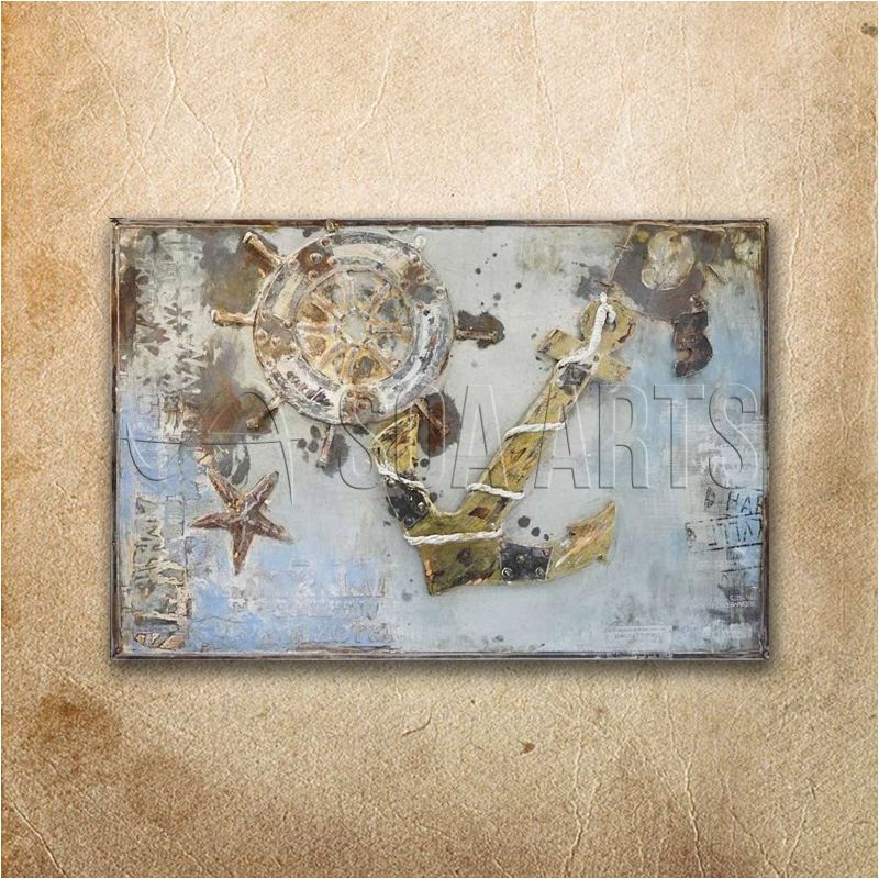 3d Anchor And Helm Painting Nautical Art Decor View 3d Wall Nautical Painting Soa Arts Product Details From Shenzhen Soa Arts Co Ltd On Alibaba Com Nautical Art Decor Nautical Art Nautical