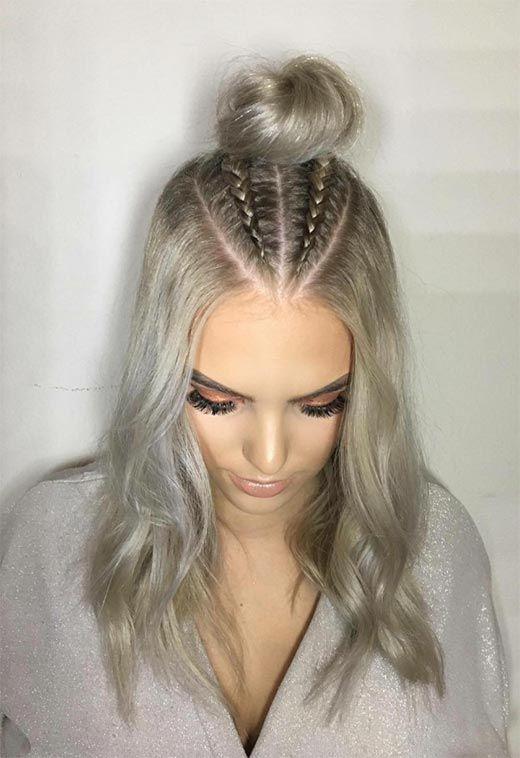 51 Cute Braids For Short Hair Short Braided Hairstyles For Women Glowsly Hair Styles Long Hair Styles Braids For Short Hair