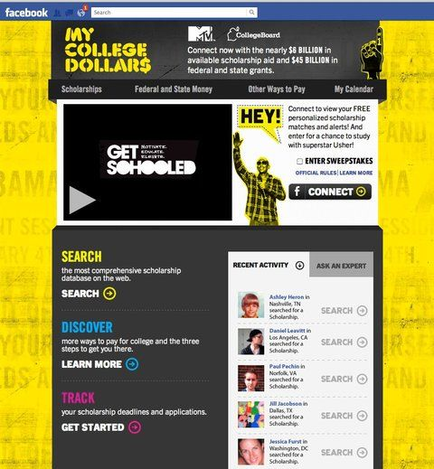 MTVu0027s Latest Facebook App is About Scholarships, Not Snooki - steps for creating a grant calendar
