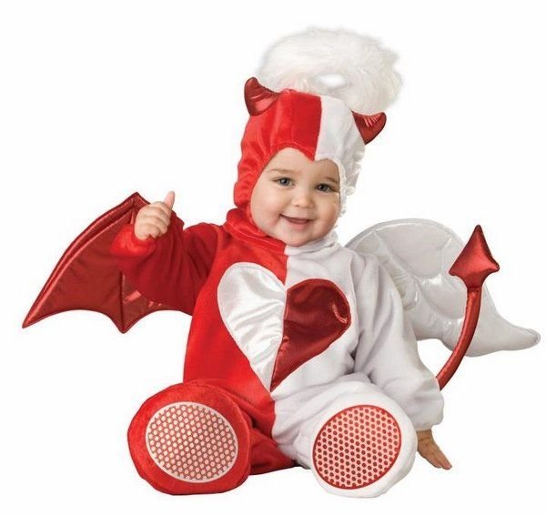 sweet infant halloween costumes baby costumes little devil red white