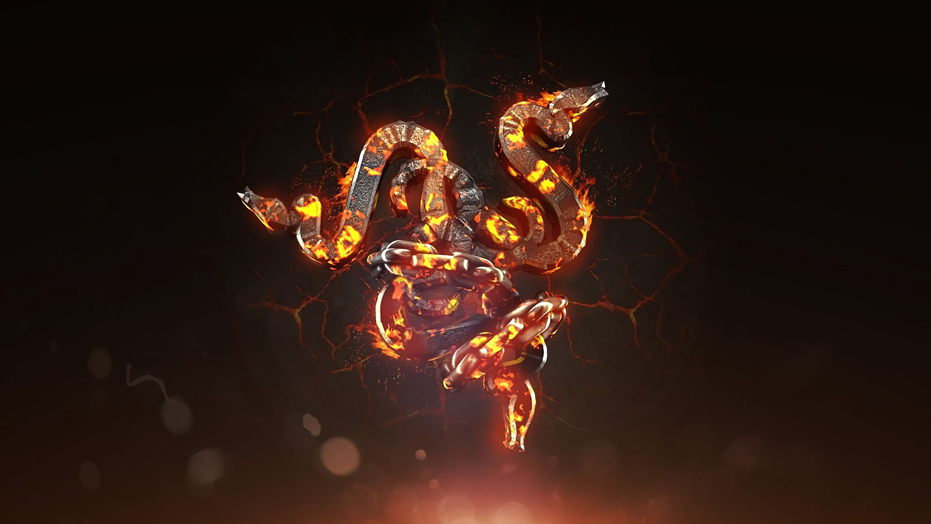 Razer Flaming Hot Logo 4k Wallpaper Desktop Wallpaper Uhd Wallpaper Black Phone Wallpaper