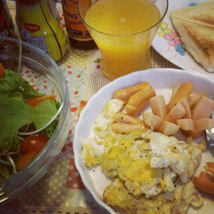 My breakfast..😁🍳