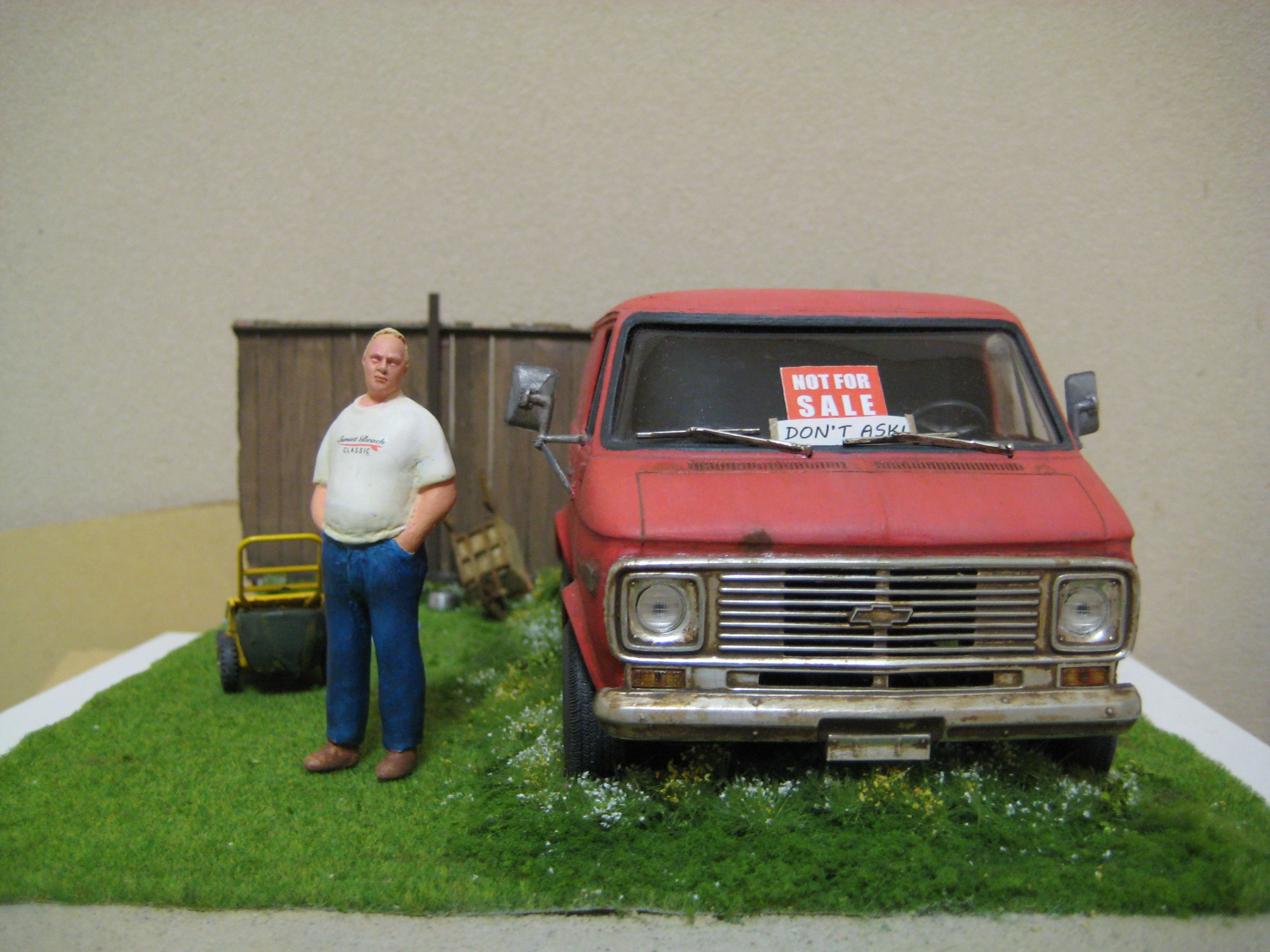 Chevy not for sale 1 25 scale model diorama scale for One car garage kits sale