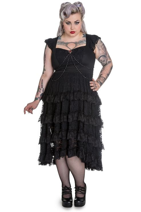 845aa528728 Spin Doctor Plus Size Black Gothic Lace Vampire Ophelia Dress  SD4368  -   123.99   Mystic Crypt