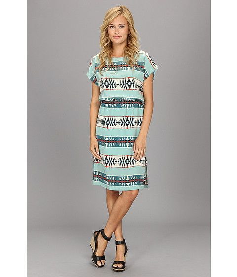 The Portland Collection By Pendleton Islet Dress Dresses Aqua Dress Pendleton