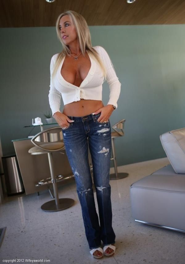 Sexy blonde milf with boy!!