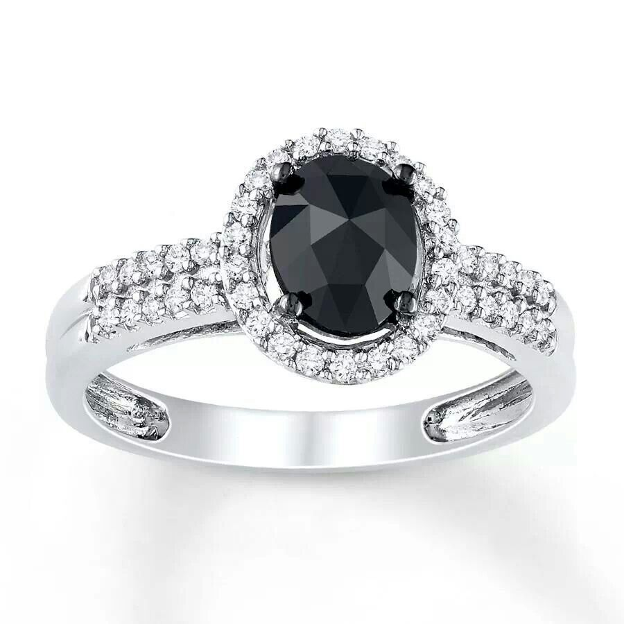 Pin By Laura Does Hair On Bedazzle Me Black Diamond Ring Gothic Engagement Ring Black Diamond