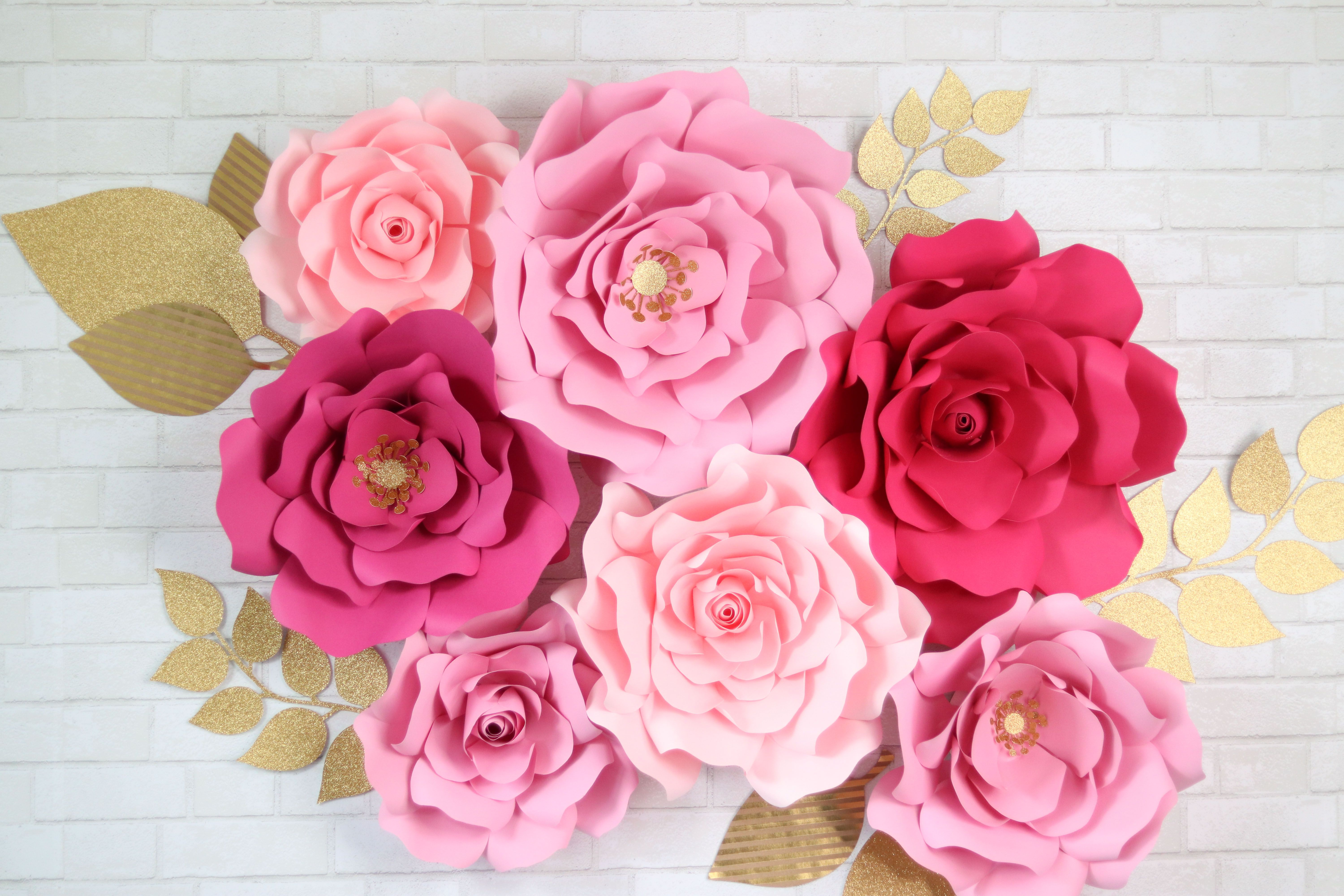 How To Make Large Paper Flowers By Hand Or With A Cricut Paper