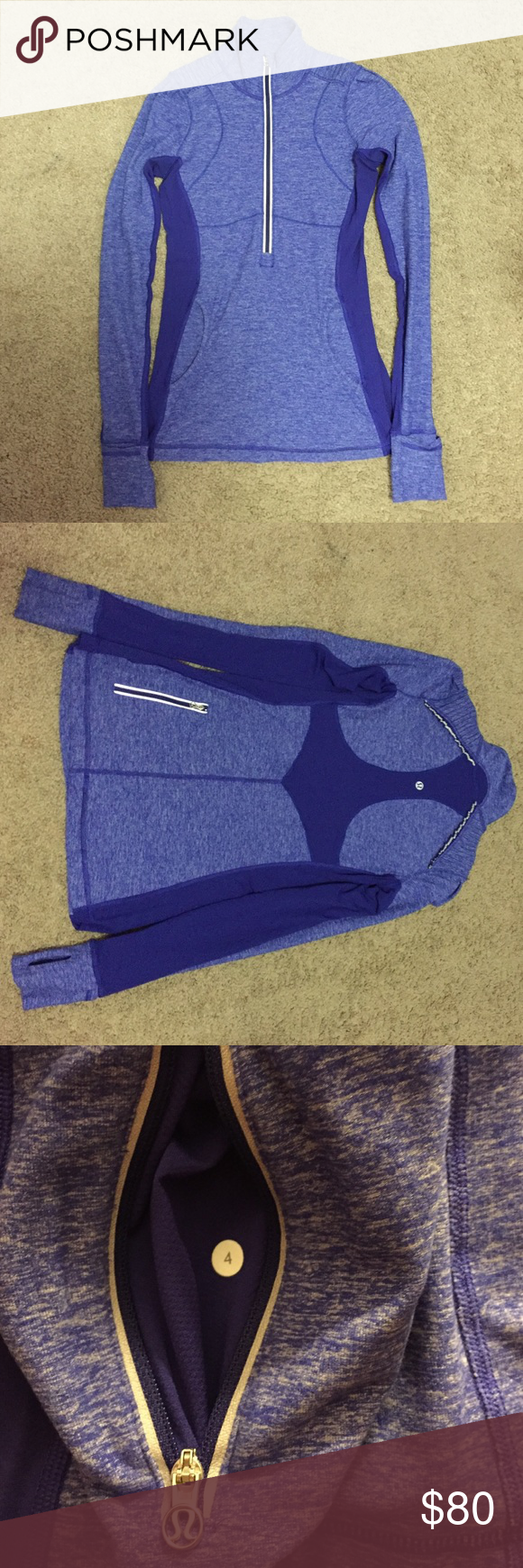 Lululemon Star Runner Pullover Like new in excellent condition! Worn only a couple of times. Great for running. Big pocket in the front with little pockets inside and zipper pocket on the back. lululemon athletica Jackets & Coats