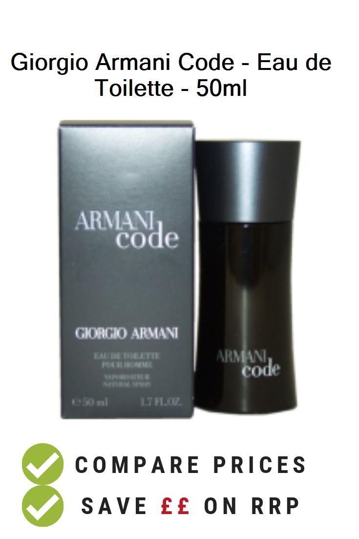 Giorgio Armani Code Eau De Toilette 50ml Uk Prices Giorgio