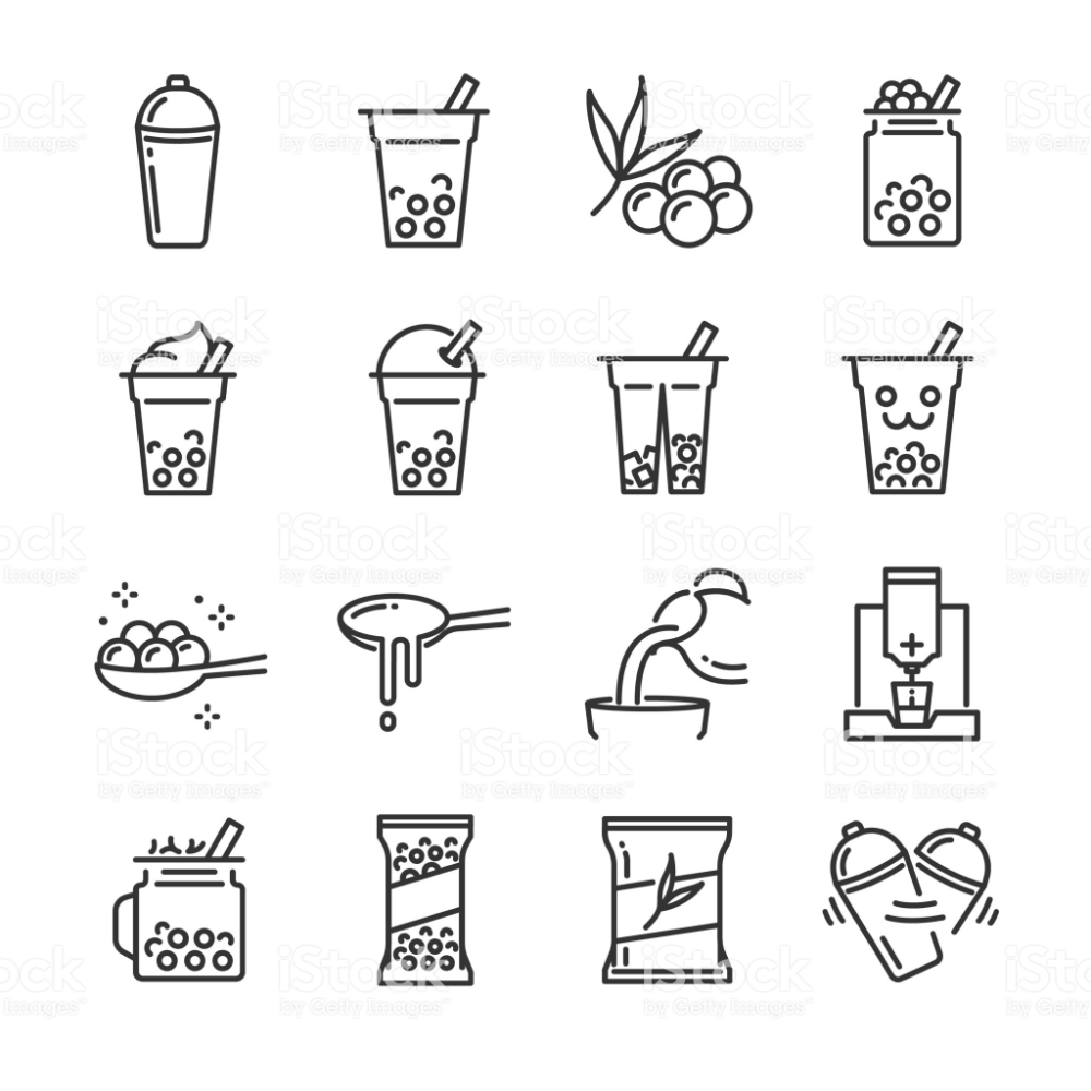bubble tea icon set included the icons as bubble milk tea shake in 2020 bubble milk tea tea logo bubble tea bubble tea icon set included the icons