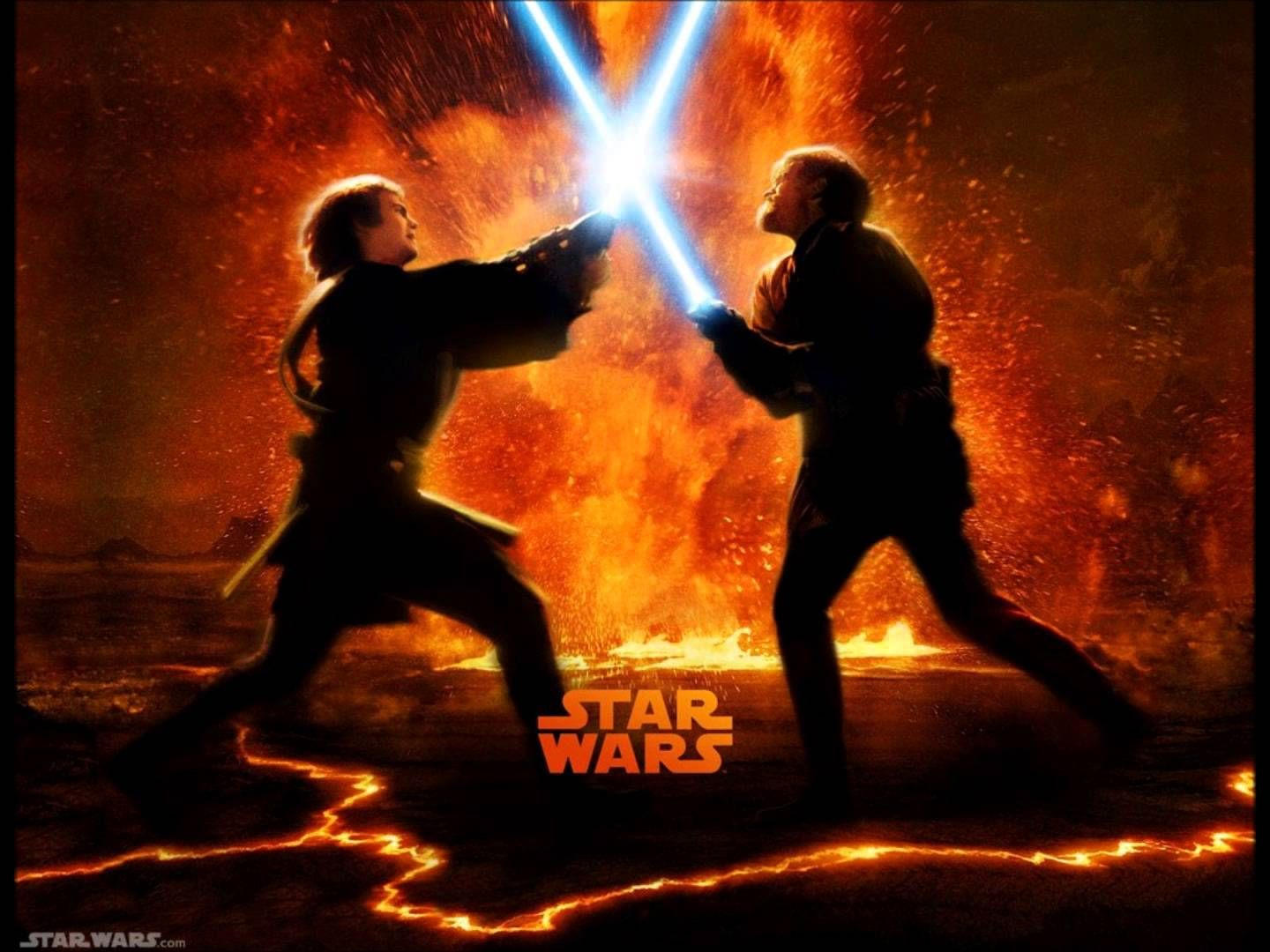 Star Wars Revenge Of The Sith Soundtrack Anakin Vs Obiwan The Great Duel Star Wars Facts Star Wars Wallpaper Battle Of Heroes