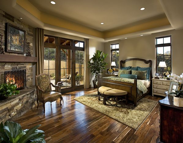 Pretty Southwest Ranch Style Bedroom. I Like The Turquoise