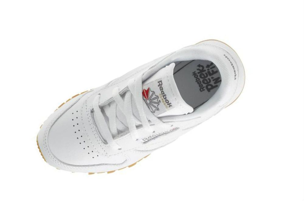 01f5a5b64cb Reebok Infant toddlers(TD) CLASSIC LEATHER sneakers White   Gum V69626   Reebok  V69626