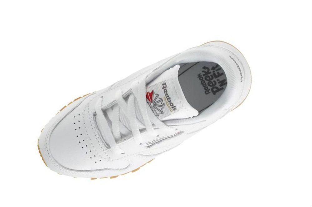 957e1fe5040 Reebok Infant toddlers(TD) CLASSIC LEATHER sneakers White   Gum V69626   Reebok  V69626
