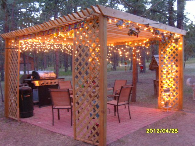 Our outdoor dining room