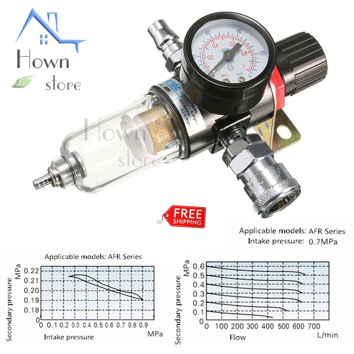 1/4'' Air Compressor Oil Water Regulator Filter Pressure