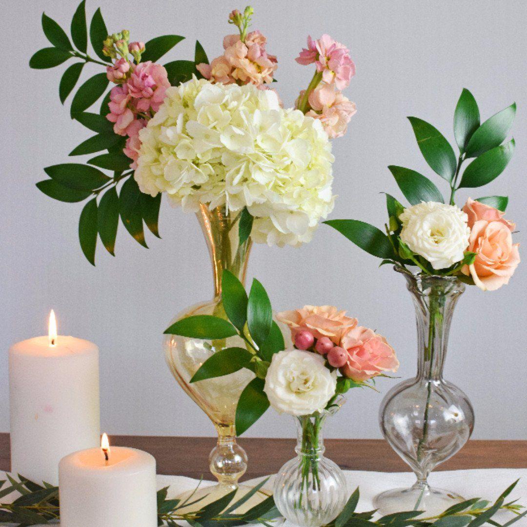 Wholesale Wedding Flower Packages: Peach Bud Vase Or Mason Jar - Makes 30