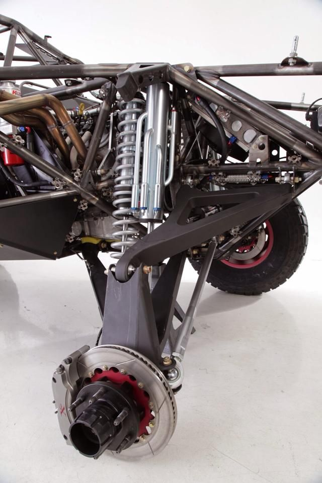Camburg built KINETIK race truck front suspension with FOX shocks