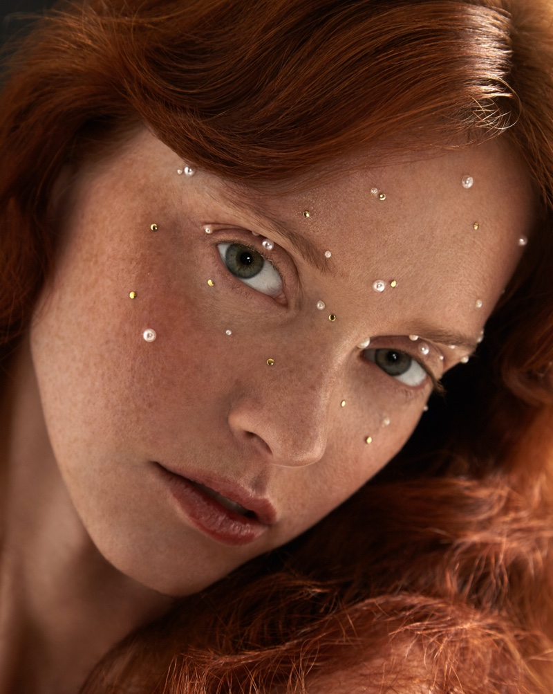 Photo of Sasha Mart Charms in Pearls for Marie Claire Russia Beauty