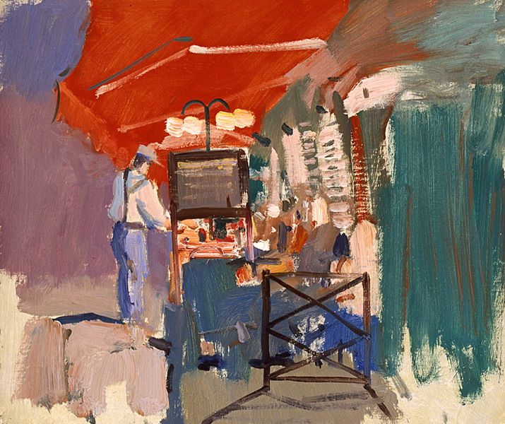 Cafe. Paris - Bato Dugarzhapov - Russian Fine Art