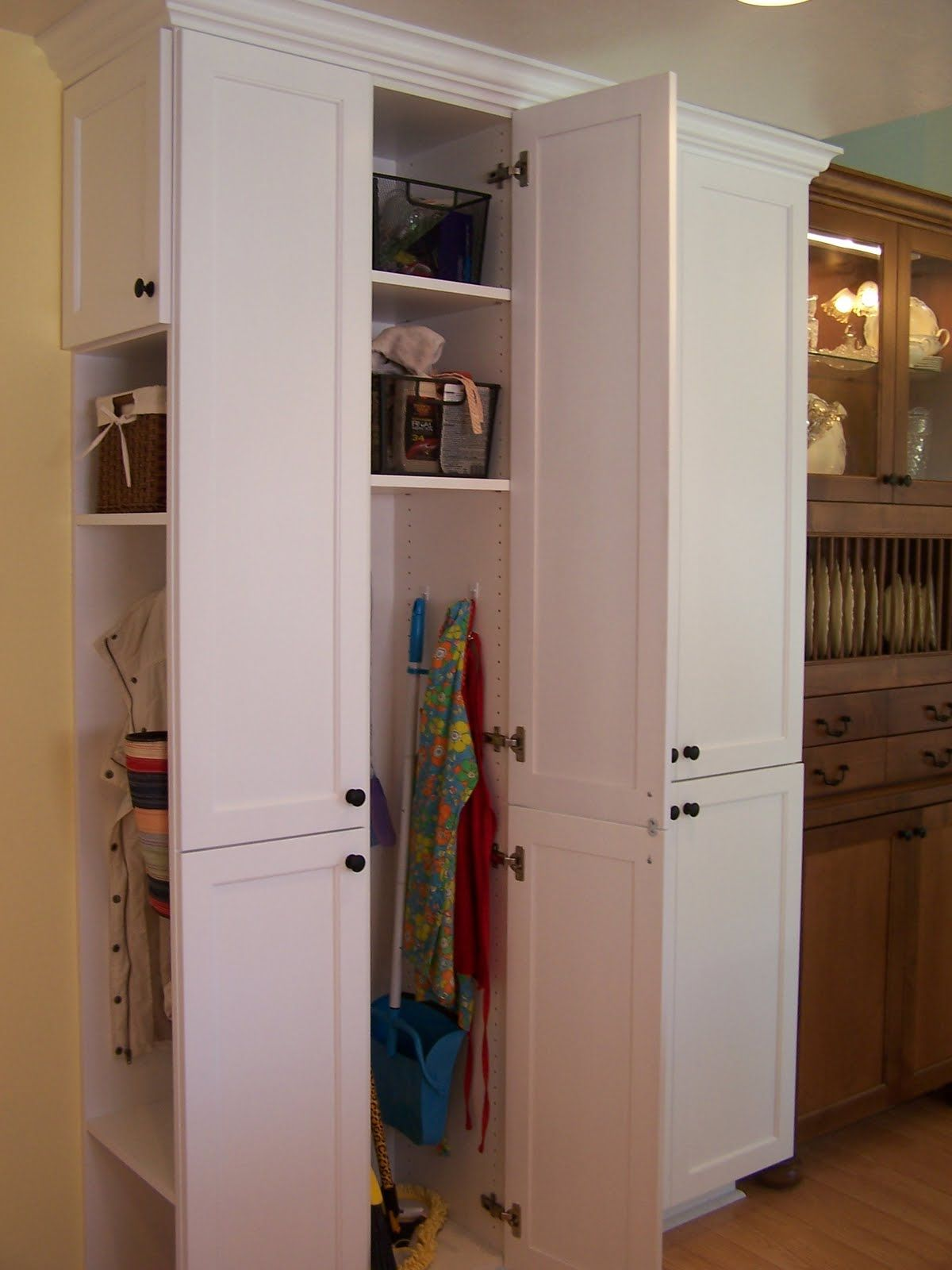 Broom Closet Cabinet Home Depot Kitchen Cabinets Ikea