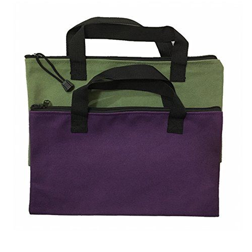 fe95802dbb19 Canvas Tool Bag - 2 Pack Heavy Duty 20oz Tool Tote Bag with ...