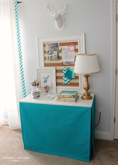 Tailored Table Skirt (the easy way!) | Diy table skirts ...