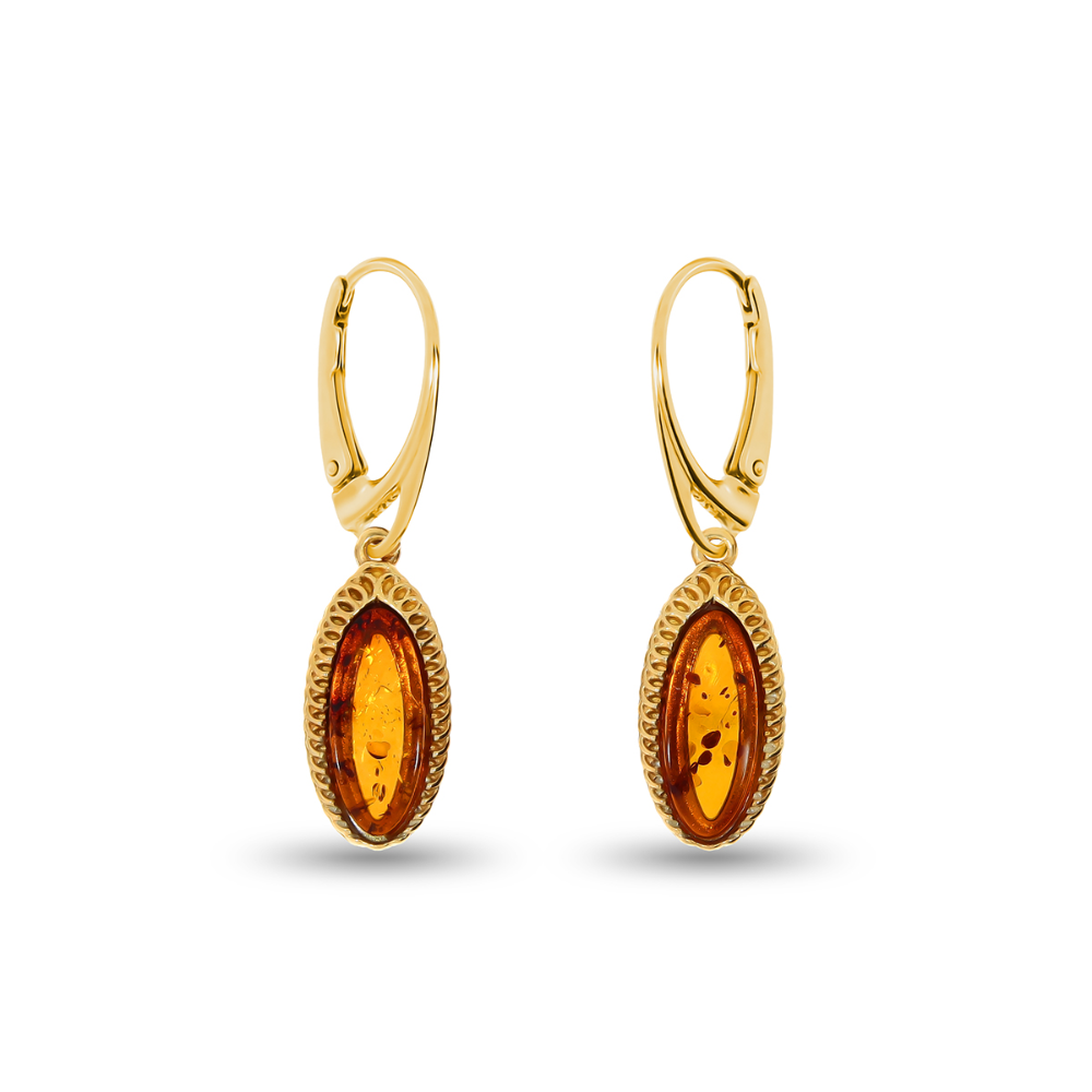 14k Gold Polished Double Teardrop Drop and Dangle Jackets for Stud Earrings 1.06 Height