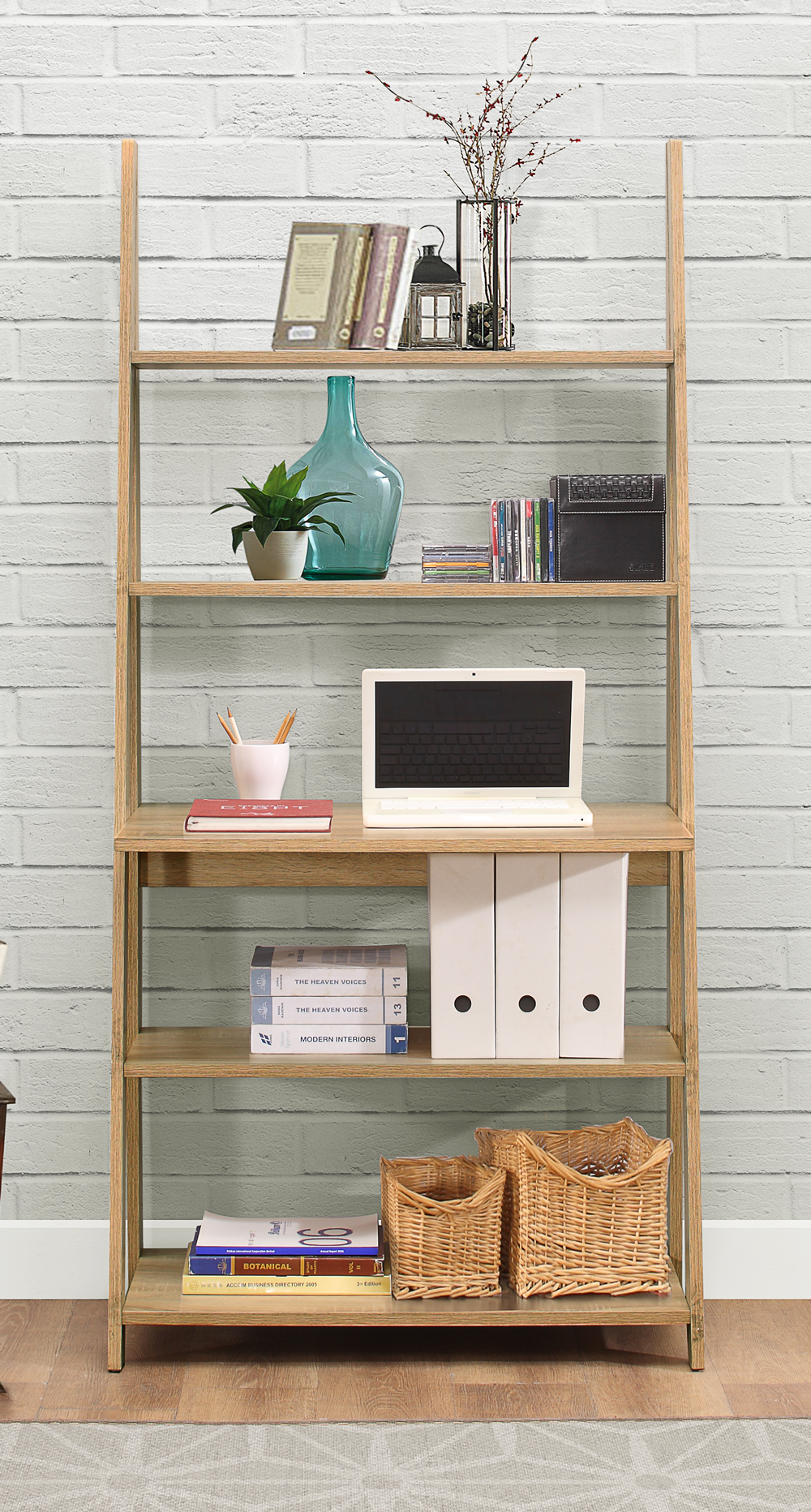 Contemporary leaning bookcase house pinterest desks