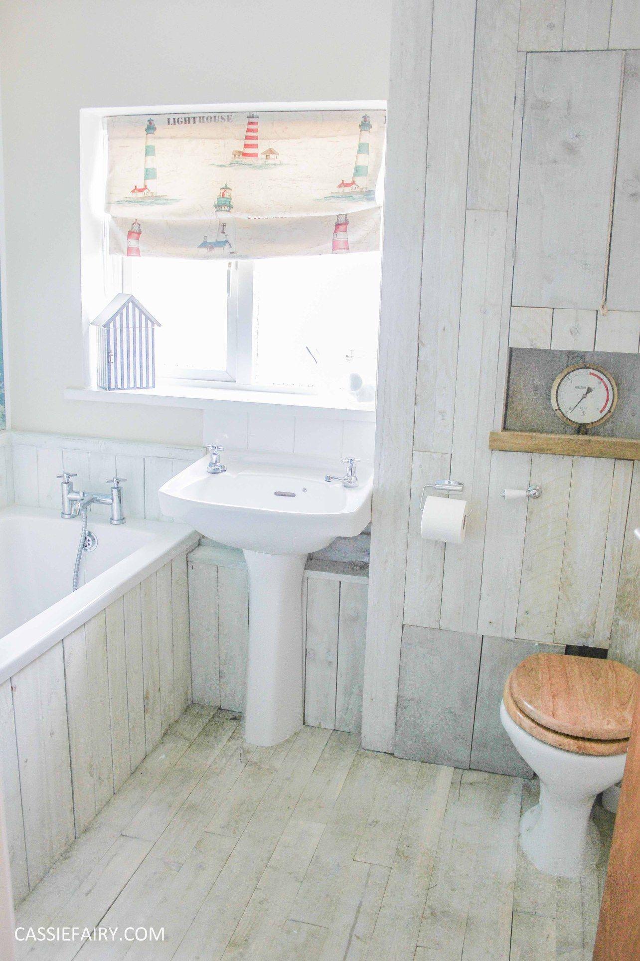 Thrifty DIY bathroom renovation - A beach hut inspired interior ...