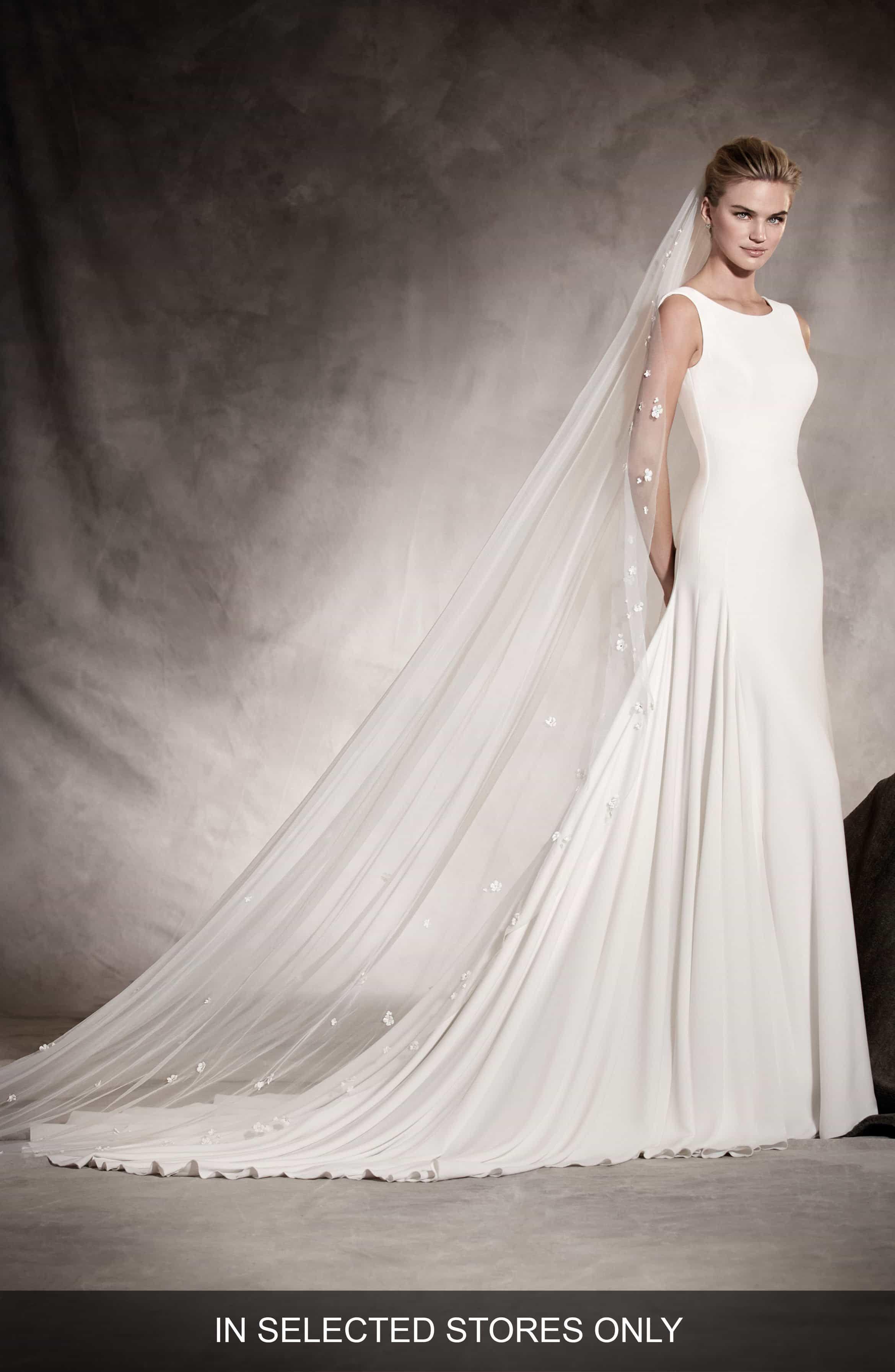 Pronovias Amaya Crepe ALine Gown Pronovias wedding