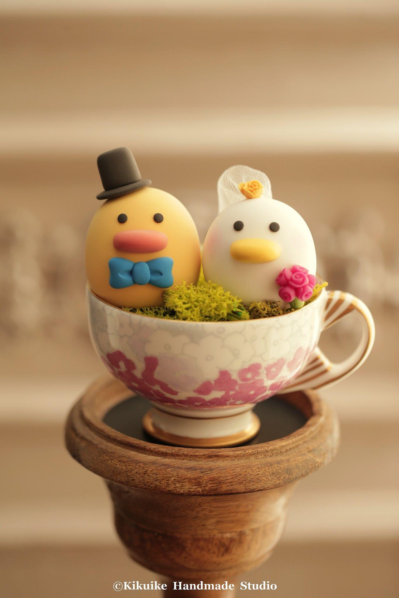 Ducks wedding cake topper   MochiEgg cake topper   Pinterest ...