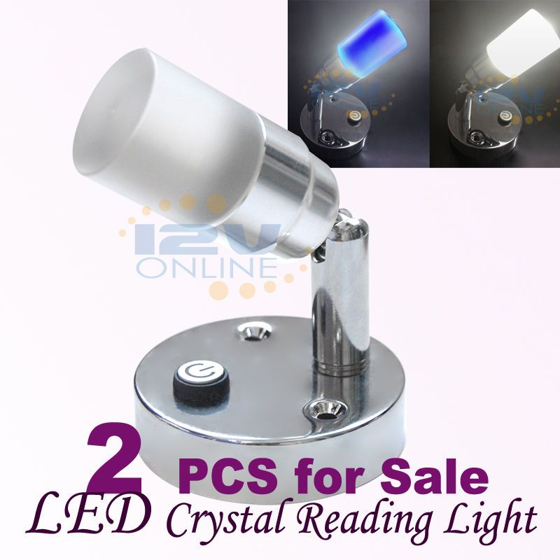 2 12v Led Wall Mounted Crystal Swivel Book Reading Lights Rv Camper Trailer Lamp Ebay Rv Solar Power Rv Accessories Diy Rv