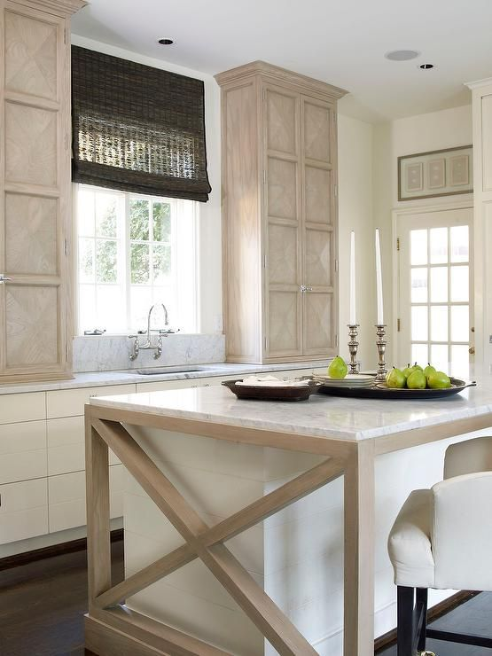 Best Chic Cottage Kitchen Features Light Wood Cabinets With 400 x 300