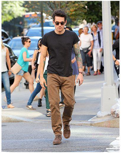 Black Shirt Brown Pants Our T Shirt