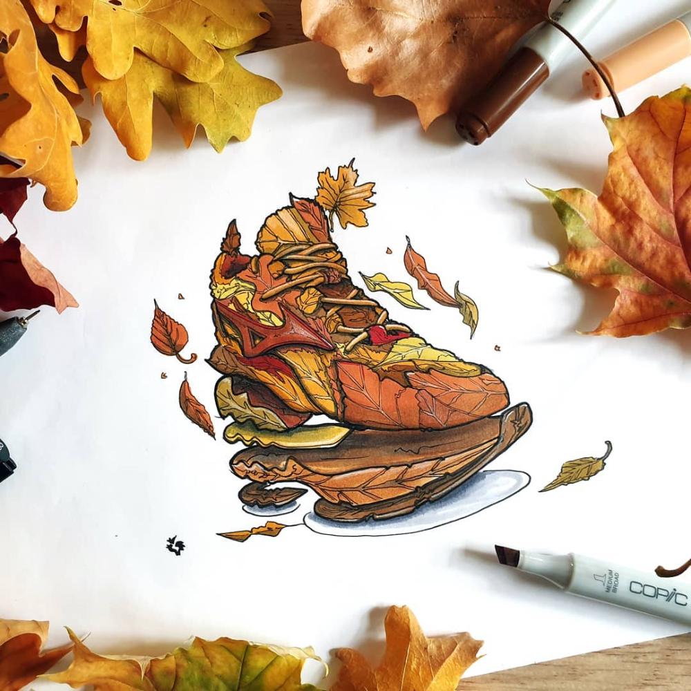 Autumn Sneaker Sketch Dreamlike Beautiful Dream Instagram