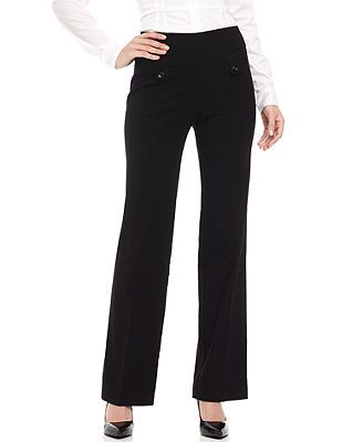 Style&co. Petite Pull-on Pants, Straight-Leg Trousers