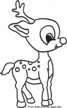 merry christmas baby romance reindeer coloring pages free