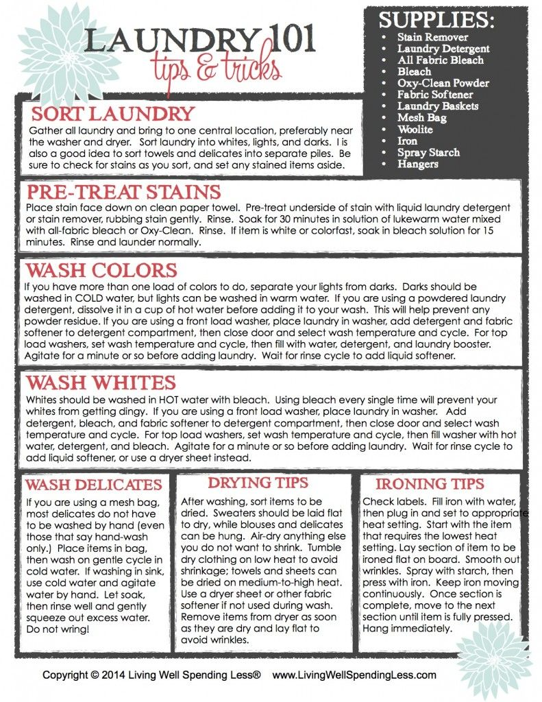 Beginner\'s Guide to Cleaning Part 7: Laundry 101 | Laundry, Laundry ...