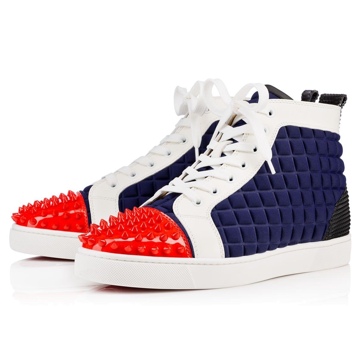 CHRISTIAN LOUBOUTIN Lou Spikes Men S Flat Version Multi Neoprene.   christianlouboutin  shoes