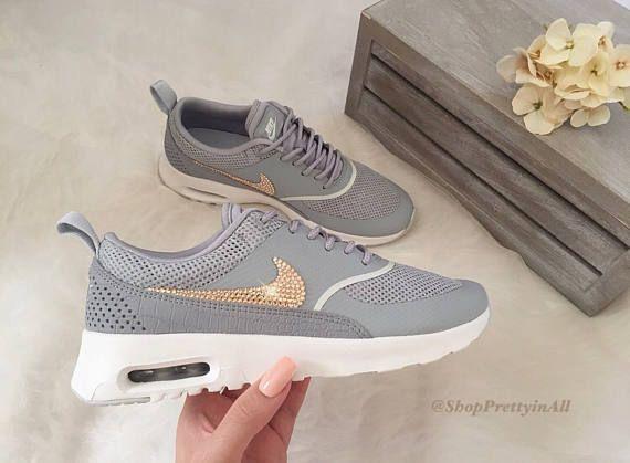 Bling Nike Air Max Thea Schuhe mit Rose Gold Swarovski